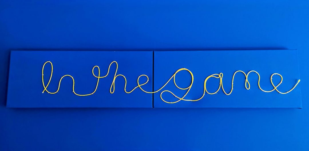 Finished EL wire sign